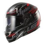 LS2 FT2 FF396 DART Helmet - Tron Black Red