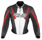 (CLEARANCE SALE) - Arlen Ness Accelerate Leather Jacket - Black/Red