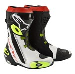 (CLEARANCE SALE) - ALPINESTARS SUPERTECH-R BOOTS - BLACK / WHITE / YELLOW
