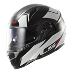 LS2 FT2 FF396 DART Helmet - Thunderbolt White Black