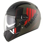 (CLEARANCE SALE) Shark Vision-R Series 2 Cartney Helmet - Black/Mat Green