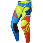 (CLEARANCE SALE) - FOX 2017 180 NIRV KIDS PEEWEE PANTS - YELLOW/BLUE