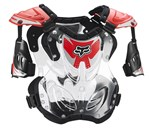 FOX 2018 R3 ROOST DEFLECTOR - RED (SIZE LARGE)