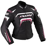 (CLEARANCE) Ixon Lover Ladies Textile Jacket - Black/White/Pink