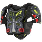 ALPINESTARS A10 CHEST ARMOUR BLACK/RED/YELLOW