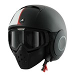 (SHARK CLEARANCE) - Shark Raw Strip Helmet - Matte Black