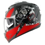 Shark S700S ECE Helmet - Trax Black/Red/Anthracite