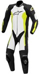 (CLEARANCE SALE) - Alpinestars Challenger 1-Piece Leather Suit (Black/White/Fluro Yellow)