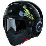 (SHARK CLEARANCE) - Shark Raw Kubrik Helmet - Black/Yellow