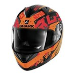 SHARK RIDILL HELMET - KENGAL BLACK/ORANGE/RED