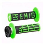ODI EMIG MX LOCKON GRIPS 2S BLACK/GREEN