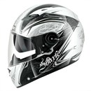 (CLEARANCE SALE) - Shark Vision-R Fuxy Helmet White/Black/Silver (XL Only)