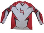 (CLEARANCE MSR) - MSR M9 Axxis Men's MX Jersey - RED WHITE