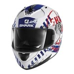 SHARK RIDILL HELMET - SKYD WHITE/BLUE/RED