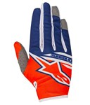 Alpinestars 2018 Youth Radar Flight Gloves - Orange Fluo/Dark Blue/White