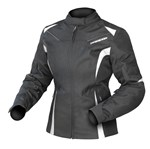 (CLEARANCE) DRIRIDER JEWEL 2 WOMENS WATERPROOF TEXTILE JACKET - BLACK / WHITE