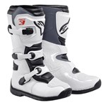 ALPINESTARS TECH 3S YOUTH MX BOOTS - WHITE