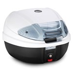 GIVI E300 MONOLOCK® 30L TOPBOX CASE + PLATE (White Topshell and Smoked Reflectors)