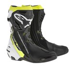 (CLEARANCE) - ALPINESTARS SUPERTECH-R SPORT BOOTS - BLACK/WHITE/YELLOW