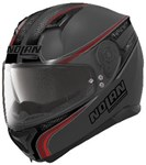 NOLAN N87 HELMET- RAPID FLAT GREY/RED