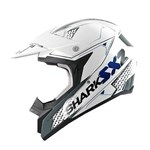 (CLEARANCE SALE) - Shark SX2 Kamaboko MX Helmet - White/Grey/Blue