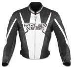 (CLEARANCE SALE) - Arlen Ness Accelerate Leather Jacket - Black/White