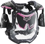 FOX 2018 R3 WOMEN'S ROOST DEFLECTOR - BLACK/PINK (MEDIUM LARGE)