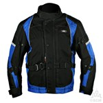 (EVERYDAY SPECIAL) - KG CAYENNE TEXTILE JACKET BLACK/BLUE Clearance Special