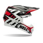 Bell Moto-9 Carbon Flex Helmet - Syndrome Red
