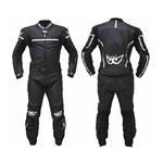 BERIK DECEPTOR 2 TWO PIECE WOMENS LEATHER SUIT - Black