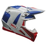 Bell Moto-9 FLEX ECE VICE Helmet - Blue/Red