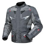 (CLEARANCE) DRIRIDER NORDIC 3 WATERPROOF TEXTILE JACKET - BLACK/GREY