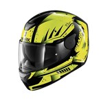 SHARK D-SKWAL DHARKOV ECE HELMET - Black/Yellow/Anthracite