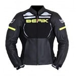 (CLEARANCE) - Berik 2.0 Absolute Mens Leather Jacket - Black/Yellow
