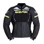 Berik 2.0 Absolute Mens Leather Jacket - Black/Yellow
