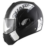 Shark Evoline 3 Drop Dual ECE Helmet - Black/White