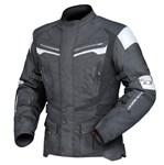 (CLEARANCE) DRIRIDER APEX 4 WATERPROOF TEXTILE JACKET - BLACK/WHITE