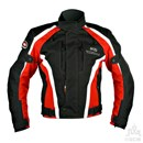 KG AIRFORCE TEXTILE JACKET BLACK/RED Clearance Special