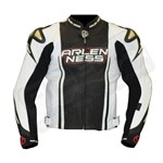(CLEARANCE SALE) - Arlen Ness Saviour CE Leather Jacket - White/Red