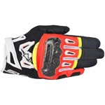 Alpinestars SMX 2 Air Carbon V2 Black/FluroRed Gloves