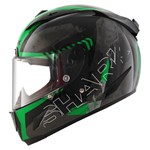Shark Race-R Pro Cintas ECE Helmet - Black/Green/Anthracite