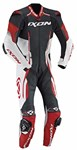 2018 IXON VORTEX 1-PIECE PERFORATED LEATHER RACE SUIT BLACK/RED