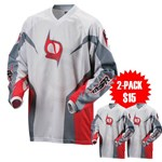 MSR M9 Axxis Men's Jersey - Grey / Red only $9, 2-Pack only $15