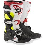 Alpinestars 2017 TECH 7S YOUTH BOOTS - BLACK/RED/YELLOW FLURO
