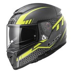 (CLEARANCE) LS2 FF390 BREAKER SPLIT Helmet - BLACK/YELLOW