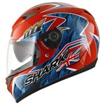 (SHARK CLEARANCE) - Shark S700S Foggy Helmet - Red/Blue