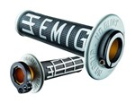 ODI EMIG MX LOCKON GRIPS 2S BLACK/SILVER