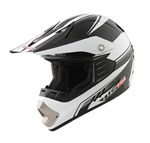 LS2 MX431 ARDITO MX JUNIOR HELMET - WHITE / BLACK