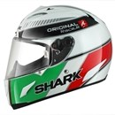(CLEARANCE SALE) - Shark RACE-R ORIGINAL White Green Red Helmet