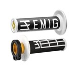 ODI EMIG MX LOCKON GRIPS 2S BLACK/WHITE